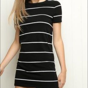 striped brandy melville t-shirt dress